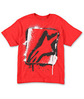 Alpine Stars Boys Runner Red Tee Shirt