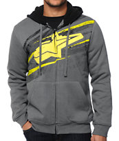 Alpine Stars Undercut Zip Up Hoodie