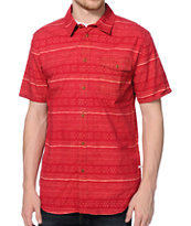 Altamont Fielder Red Print Button Up Shirt