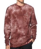 Altamont Mineral Tie Dye Crew Neck Sweatshirt