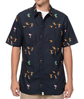 Altamont Skatebirds Black Button Up Shirt