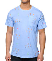 Altamont Skatebirds Blue Pocket Tee Shirt