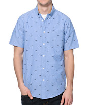 Altamont Susspeck Blue Print Button Up Shirt