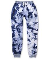 American Stitch Blue Tie Dye Jogger Pants