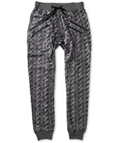 American Stitch Cable Knit Sublimated Jogger Pants