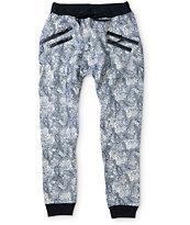 American Stitch Floral Paisley Zipper Jogger Pants