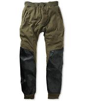 American Stitch Harem Quilt Polyurethane Jogger Pants