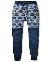 American Stitch Harem Tetris Blue Jogger Sweat Pants
