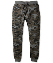American Stitch Harlem Black Camo Print Jogger Sweat Pants
