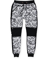 American Stitch New Paisley Double Zip Jogger Pants