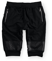 American Stitch PU Quilt Knee Jogger Shorts