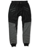 American Stitch Snow Quilt Zipper Jogger Pants