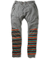American Stitch Tribal Leg Jogger Sweatpants