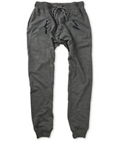 American Stitch Zipper Jogger Sweat Pants