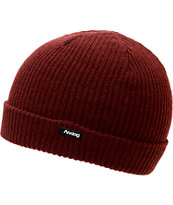 Analog Burglar Deep Red Fold Beanie