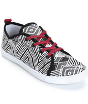 Antic Black & White Diamond Low Top Shoes