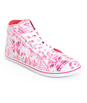 Antic Pink Tribal High Top Shoes
