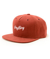 Anything Raw Script Snapback Hat