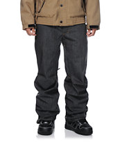 Aperture 5 Pocket Black Denim 10k 2014 Guys Snowboard Pants