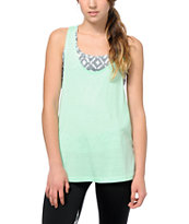 Aperture Ambular Mint & Tribal Built In Bra Tank Top