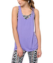 Aperture Ambular Purple & Tribal Built In Bra Tank Top