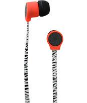 Aperture Bawse Zebra Black & Red Earbuds