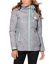 Aperture Harvest Heather Grey & Mint 10K Snowboard Jacket