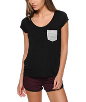 Aperture Mira Pop Pocket Open Back T-Shirt