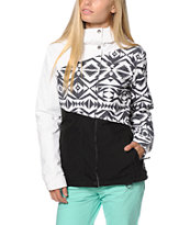 Aperture Pan Face Black & White Tribal 10K Snowboard Jacket