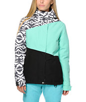 Aperture Pan Face Mint & Tribal 10K Snowboard Jacket