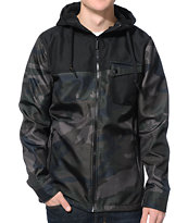 Aperture Peanut Dreams Camo & Black Ripstop Tech Fleece Jacket