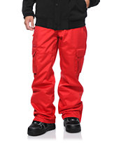 Aperture Sentry Red Cargo 10k 2014 Snowboard Pants