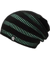 Aperture Street Contrast Black & Mint Stripe Beanie
