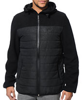 Aperture Traveler Black Print Polar Fleece Jacket
