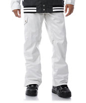 Aperture Union White 10K 2013 Guys Snowboard Pants