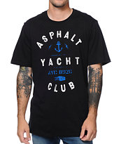 Asphalt Yacht Club Anchor Black Tee Shirt