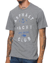 Asphalt Yacht Club Anchor Heather Grey Tee Shirt