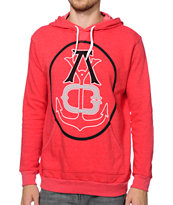 Asphalt Yacht Club Anchor Red Pullover Hoodie