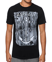 Asphalt Yacht Club Anchor Wood Grain & Black T-Shirt