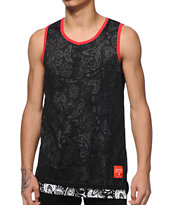 Asphalt Yacht Club Blocks Paisley Tank Top