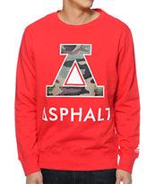 Asphalt Yacht Club Delta Force Red Crew Neck Sweatshirt