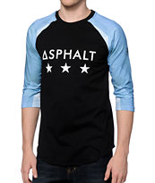 Asphalt Yacht Club Ice Black Baseball Tee Shirt