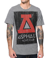 Asphalt Yacht Club Lockup Grey Tee Shirt