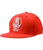Asphalt Yacht Club Red Anchor Snapback Hat