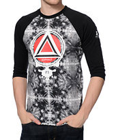 Asphalt Yacht Club Scope Black Baseball Tee Shirt