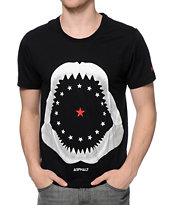 Asphalt Yacht Club Shark Black Tee Shirt