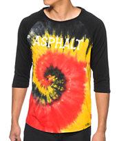 Asphalt Yacht Club Tie Dye Baseball T-Shirt