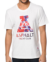 Asphalt Yacht Club Tie Dye Fill White Tee Shirt