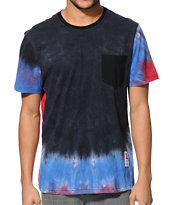 Asphalt Yacht Club Tie Dye Pocket Tee Shirt