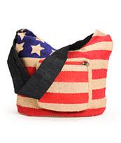 Baja Bags Americana Jute Crossbody Purse